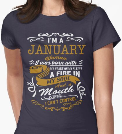 I'm an January women Womens Fitted T-Shirt