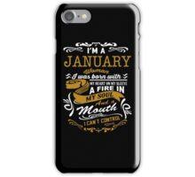 I'm an January women iPhone Case/Skin