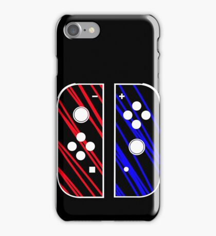 nintendo switch red & blue iPhone Case/Skin