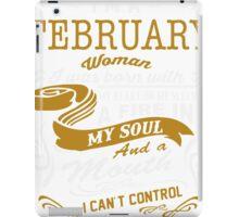 I'm an February women iPad Case/Skin