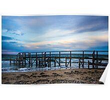 Jetty at Sunset, Point King, Portsea, Mornington Peninsula, Victoria, Australia Poster
