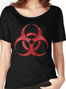 Red Biohazard Symbol Women's Relaxed Fit T-Shirt