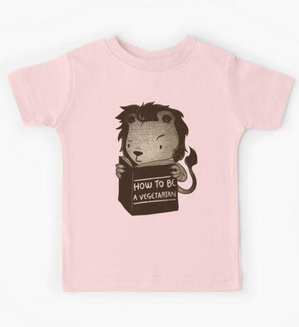 Lion Book How To Be Vegetarian Kids Tee