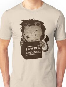 Lion Book How To Be Vegetarian Unisex T-Shirt