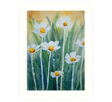 Daisy Field - Watercolour Art Print