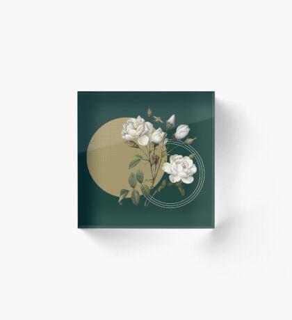Winter Blooms Acrylic Block
