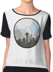 Map to the Pacific Northwest - Round Chiffon Top