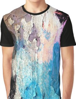 Peeling Paint Street Art Graphic T-Shirt