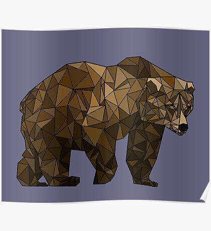 Geometric Bear Poster