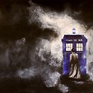 The Doctor and his Tardis in the Mist by April Webb
