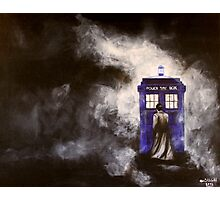 The Doctor and his Tardis in the Mist Photographic Print