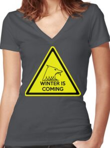 winter signal Women's Fitted V-Neck T-Shirt