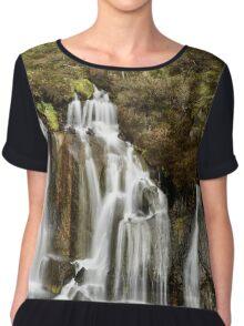 Hraunfosser Waterfall Iceland Chiffon Top