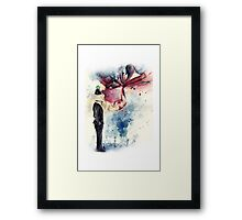 Magritte, Son of Man, Apple & Mermaid Framed Print