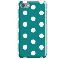 Teal polka dot white size:all Top iPhone Case/Skin