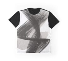 Abstract Drawing Black White Graphic T-Shirt