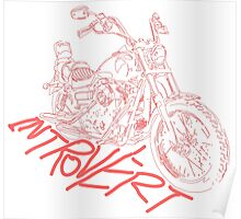 introvert's white lining bike Poster