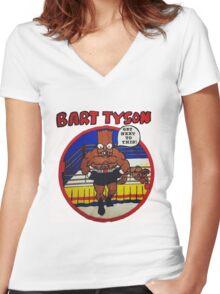 Bart Tyson//Black Bart as Mike Tyson Women's Fitted V-Neck T-Shirt