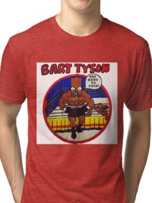 Bart Tyson//Black Bart as Mike Tyson Tri-blend T-Shirt
