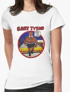 Bart Tyson//Black Bart as Mike Tyson Womens Fitted T-Shirt