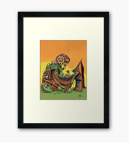 Into the Swamp Framed Print