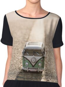 Hippie Van (toy) in an ocean of dunes Chiffon Top