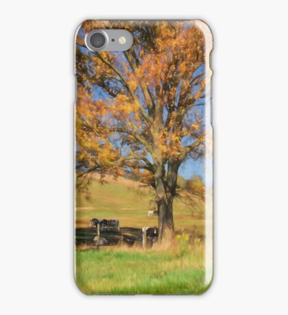 Enjoying The Autumn Shade iPhone Case/Skin