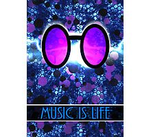 Vinyl Scratch - Music is Life Photographic Print