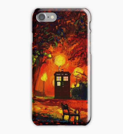 tardis starry night beauty full  iPhone Case/Skin