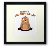 Cool Gift for Groundhog Day  Framed Print