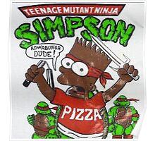 TEENAGE MUTANT NINJA SIMPSON Poster