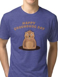 Cool Gift for Groundhog Day  Tri-blend T-Shirt