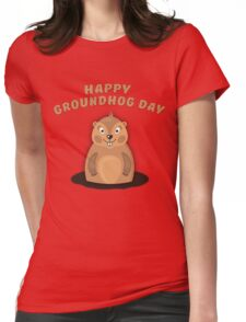 Cool Gift for Groundhog Day  Womens Fitted T-Shirt