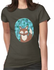 Moonlit Fox Womens Fitted T-Shirt