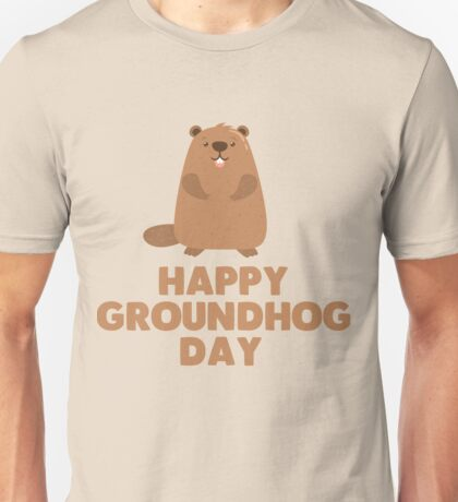 Awesome Groundhog Day Design  Unisex T-Shirt