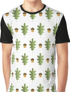 oak leaf and acorn pattern Graphic T-Shirt