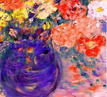 Romance II Whimsical Flowers by innocentorigina