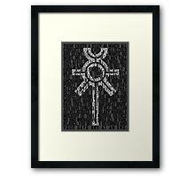 Necron Sigil Framed Print