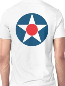 AIR FORCE, SYMBOL, WWII, USA, Pre War, To May 1942 Unisex T-Shirt