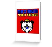 MENTAL MOUSE BLUE Greeting Card