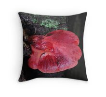 Beefsteak Fungus. Throw Pillow