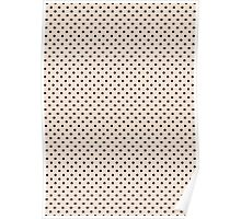 Polkadots Beige and Black Poster