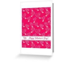 valentine pattern Happy Valentine's Day Greeting Card