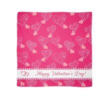 valentine pattern Happy Valentine's Day Scarf