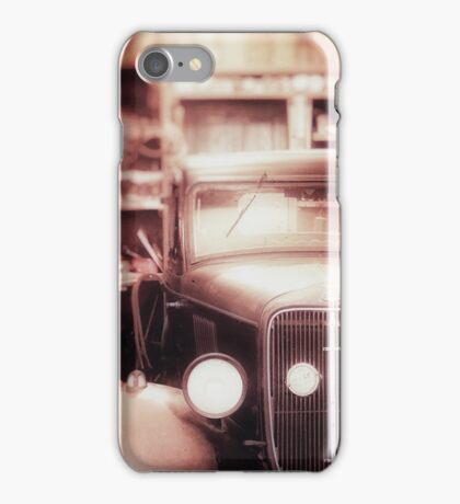 Vintage Car in Garage iPhone Case/Skin