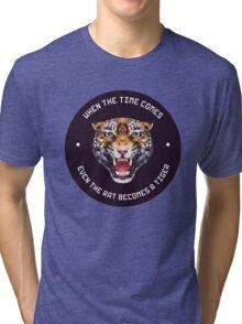 polygonal tiger illustration Tri-blend T-Shirt