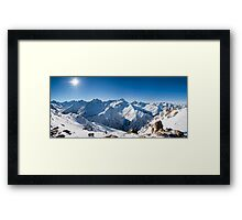 Sunshine in the Alps Framed Print