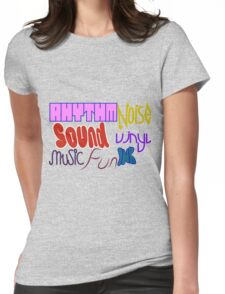 Music Vinyl Rhythm Sound Noise Ink Fun- Kate Moross inspired Womens Fitted T-Shirt
