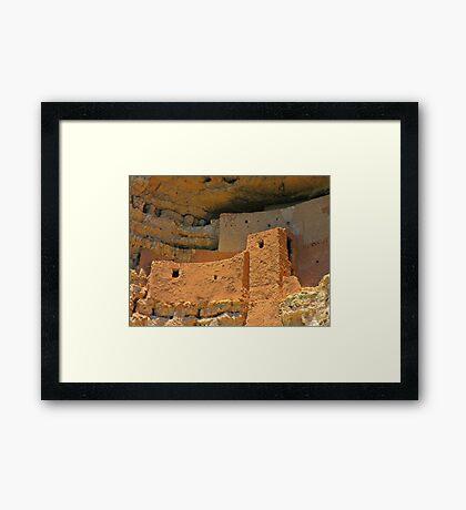 Close up of Montezuma Castle Framed Print