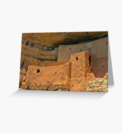 Close up of Montezuma Castle Greeting Card